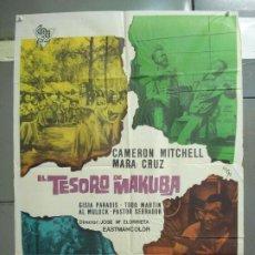 Cine: CDO 6279 EL TESORO DE MAKUBA CAMERON MITCHEL MARA CRUZ POSTER ORIGINAL 70X100 ESTRENO. Lote 221682051