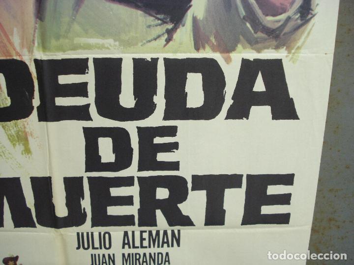 Cine: CDO 6283 DEUDA DE MUERTE JULIO ALEMAN SPAGHETTI POSTER ORIGINAL 70X100 ESTRENO - Foto 8 - 221684258