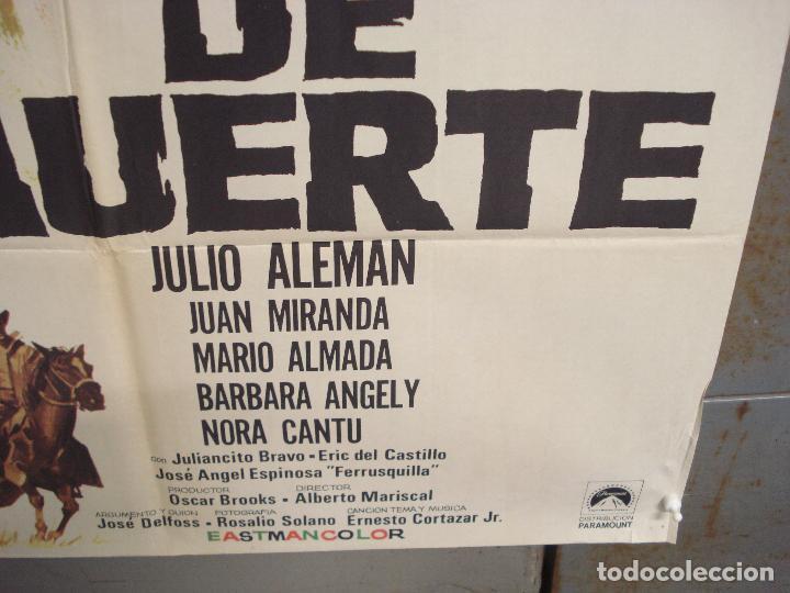 Cine: CDO 6283 DEUDA DE MUERTE JULIO ALEMAN SPAGHETTI POSTER ORIGINAL 70X100 ESTRENO - Foto 9 - 221684258