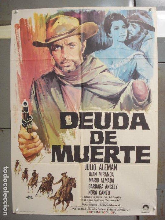 CDO 6283 DEUDA DE MUERTE JULIO ALEMAN SPAGHETTI POSTER ORIGINAL 70X100 ESTRENO (Cine - Posters y Carteles - Westerns)