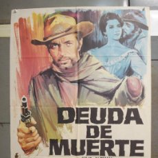 Cine: CDO 6283 DEUDA DE MUERTE JULIO ALEMAN SPAGHETTI POSTER ORIGINAL 70X100 ESTRENO. Lote 221684258