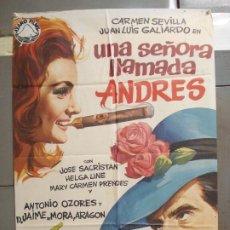 Cine: CDO 6285 UNA SEÑORA LLAMADA ANDRES CARMEN SEVILLA JUAN LUIS GALIARDO POSTER ORIGINAL 70X100 ESTRENO. Lote 221684707