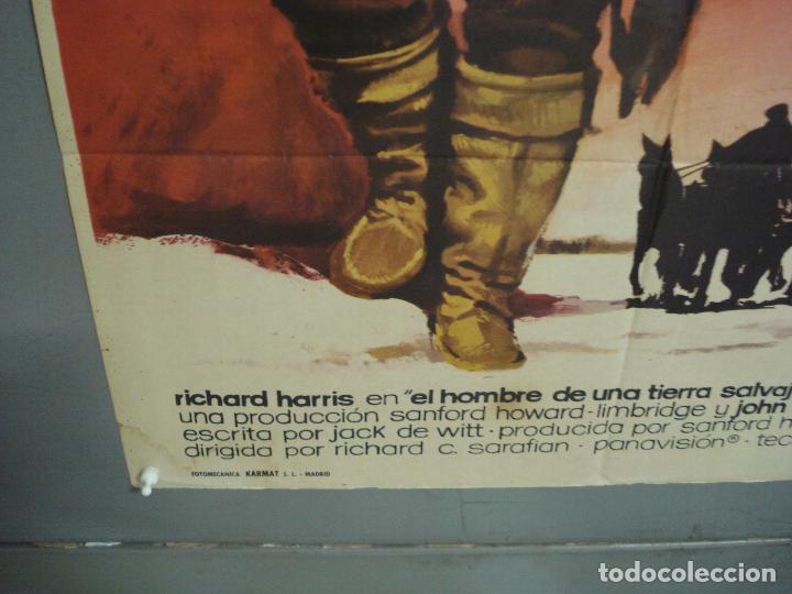 Cine: CDO 6286 EL HOMBRE DE UNA TIERRA SALVAJE RICHARD HARRIS MCP POSTER ORIGINAL 70X100 ESTRENO - Foto 5 - 221685036