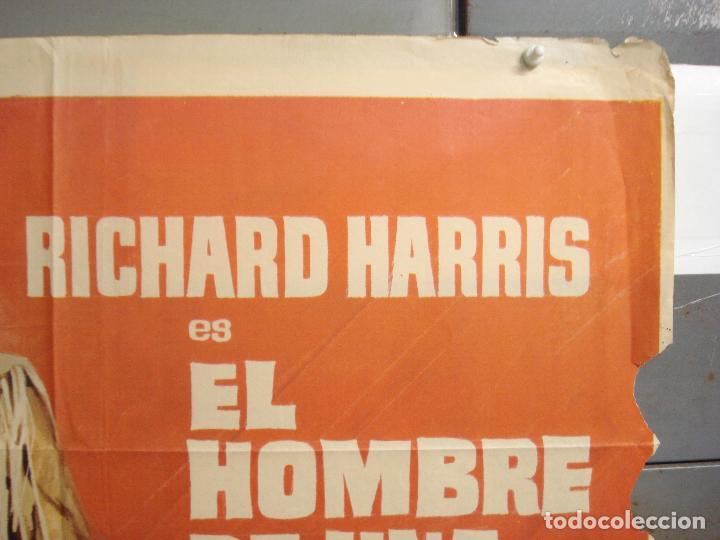 Cine: CDO 6286 EL HOMBRE DE UNA TIERRA SALVAJE RICHARD HARRIS MCP POSTER ORIGINAL 70X100 ESTRENO - Foto 6 - 221685036