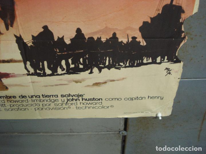 Cine: CDO 6286 EL HOMBRE DE UNA TIERRA SALVAJE RICHARD HARRIS MCP POSTER ORIGINAL 70X100 ESTRENO - Foto 9 - 221685036