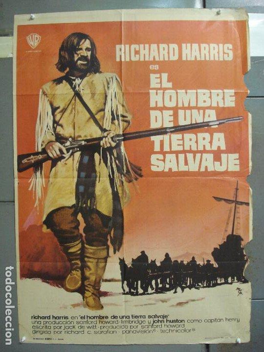 CDO 6286 EL HOMBRE DE UNA TIERRA SALVAJE RICHARD HARRIS MCP POSTER ORIGINAL 70X100 ESTRENO (Cine - Posters y Carteles - Westerns)