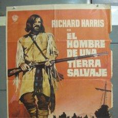 Cine: CDO 6286 EL HOMBRE DE UNA TIERRA SALVAJE RICHARD HARRIS MCP POSTER ORIGINAL 70X100 ESTRENO. Lote 221685036
