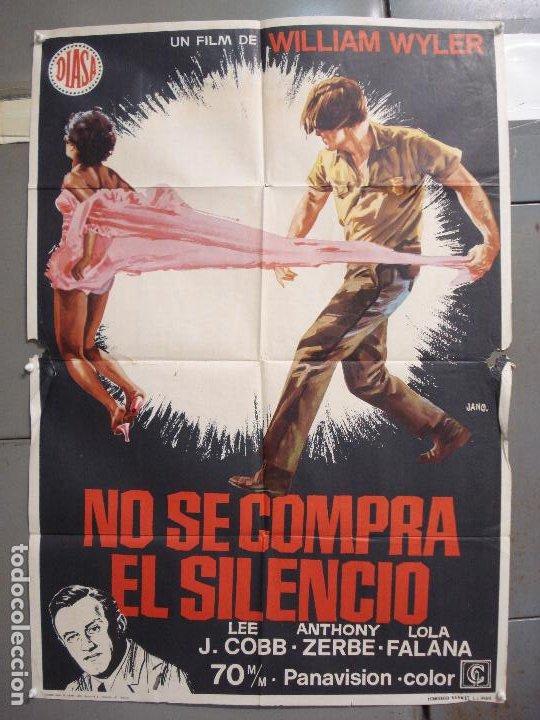 CDO 6287 NO SE COMPRA EL SILENCIO LOLA FALANA WILLIAM WYLER JANO POSTER ORIGINAL 70X100 ESTRENO (Cine - Posters y Carteles - Acción)