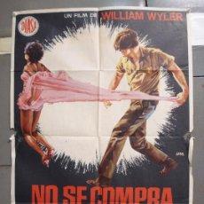 Cine: CDO 6287 NO SE COMPRA EL SILENCIO LOLA FALANA WILLIAM WYLER JANO POSTER ORIGINAL 70X100 ESTRENO. Lote 221685505