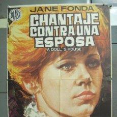 Cine: CDO 6288 CHANTAJE CONTRA UNA ESPOSA JANE FONDA JOSEPH LOSEY POSTER ORIGINAL 70X100 ESTRENO. Lote 221685837