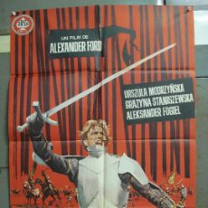 Cine: CDO 6292 LOS CABALLEROS TEUTONICOS ALEKSANDER FORD CINE POLACO POSTER ORIGINAL 70X100 ESTRENO. Lote 221687362