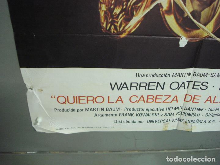 Cine: CDO 6293 QUIERO LA CABEZA DE ALFREDO GARCIA SAM PECKINPAH POSTER ORIGINAL 70X100 ESTRENO - Foto 5 - 221687665