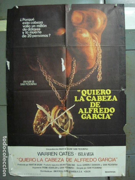 CDO 6293 QUIERO LA CABEZA DE ALFREDO GARCIA SAM PECKINPAH POSTER ORIGINAL 70X100 ESTRENO (Cine - Posters y Carteles - Westerns)