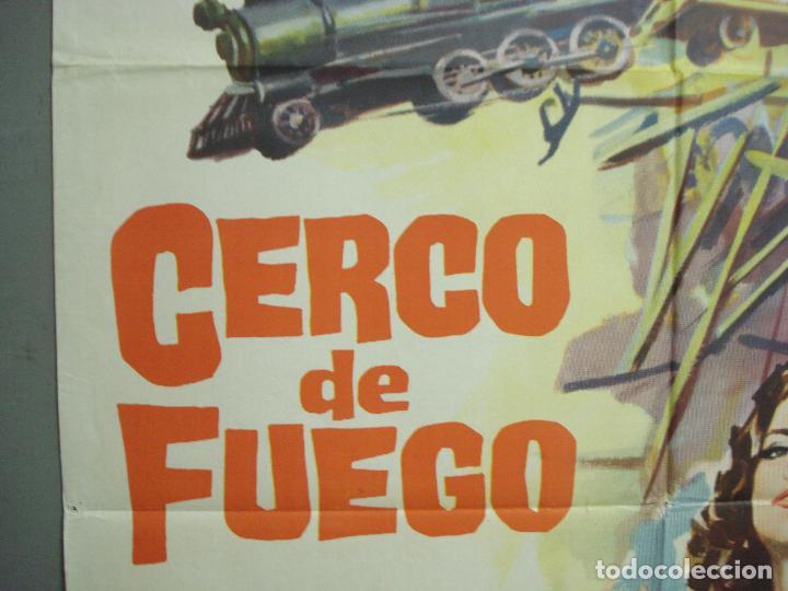 Cine: CDO 6294 CERCO DE FUEGO DAVID JANSSEN JOYCE TAYLOR POSTER ORIGINAL 70X100 ESTRENO - Foto 3 - 221688018