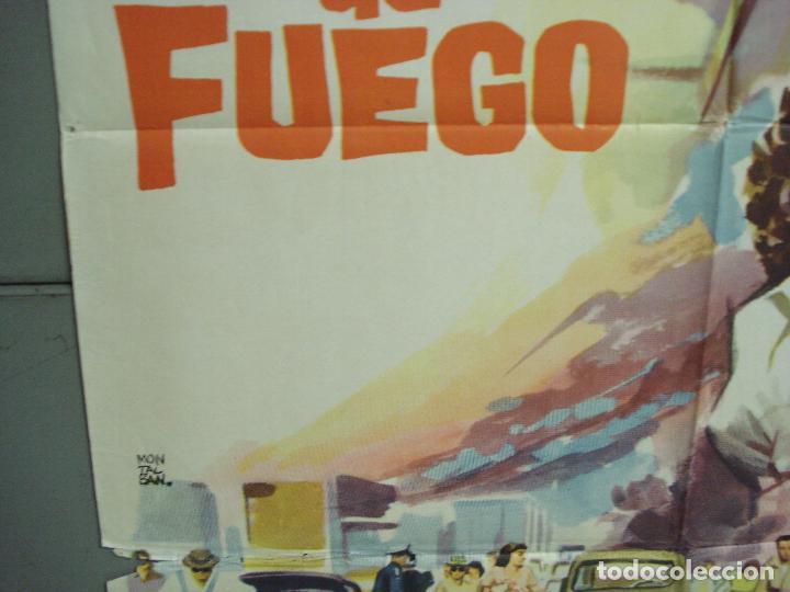Cine: CDO 6294 CERCO DE FUEGO DAVID JANSSEN JOYCE TAYLOR POSTER ORIGINAL 70X100 ESTRENO - Foto 4 - 221688018