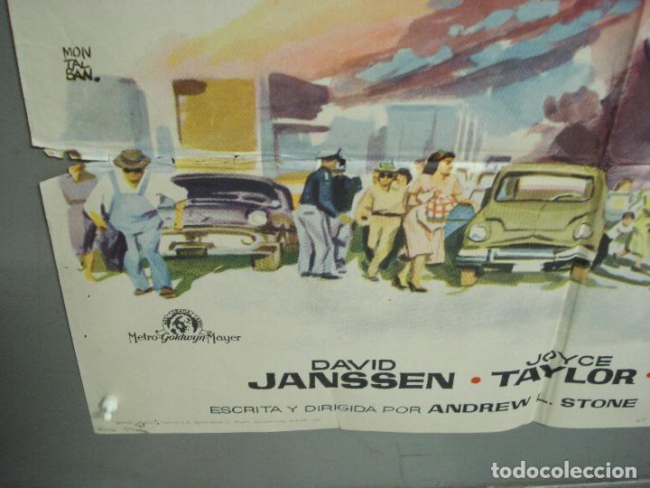 Cine: CDO 6294 CERCO DE FUEGO DAVID JANSSEN JOYCE TAYLOR POSTER ORIGINAL 70X100 ESTRENO - Foto 5 - 221688018