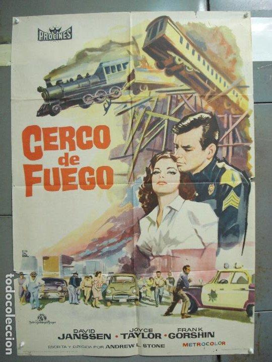 CDO 6294 CERCO DE FUEGO DAVID JANSSEN JOYCE TAYLOR POSTER ORIGINAL 70X100 ESTRENO (Cine - Posters y Carteles - Acción)