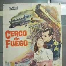 Cine: CDO 6294 CERCO DE FUEGO DAVID JANSSEN JOYCE TAYLOR POSTER ORIGINAL 70X100 ESTRENO. Lote 221688018