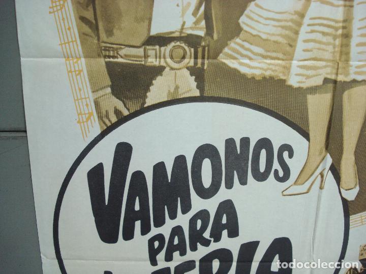 Cine: CDO 6295 VAMONOS PARA LA FERIA MARIA ANTONIETA PONS JULIO ALDAMA POSTER ORIGINAL 70X100 ESTRENO - Foto 4 - 221688362