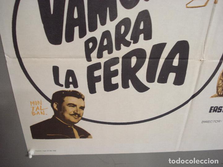 Cine: CDO 6295 VAMONOS PARA LA FERIA MARIA ANTONIETA PONS JULIO ALDAMA POSTER ORIGINAL 70X100 ESTRENO - Foto 5 - 221688362