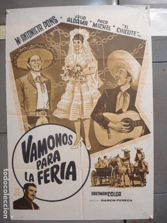 CDO 6295 VAMONOS PARA LA FERIA MARIA ANTONIETA PONS JULIO ALDAMA POSTER ORIGINAL 70X100 ESTRENO (Cine - Posters y Carteles - Musicales)