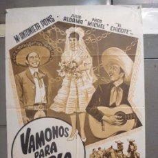 Cine: CDO 6295 VAMONOS PARA LA FERIA MARIA ANTONIETA PONS JULIO ALDAMA POSTER ORIGINAL 70X100 ESTRENO. Lote 221688362