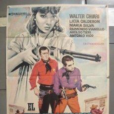 Cine: CDO 6305 EL SHERIFF TERRIBLE LICIA CALDERON MARIA SILVA SPAGHETTI POSTER ORIG ESPAÑOL 70X100 R-71. Lote 221698135