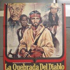 Cine: CDO 6309 LA QUEBRADA DEL DIABLO CHUCK CONNORS JOHN HUSTON SPAGHETTI MAC POSTER ORIG 70X100 ESTRENO. Lote 221701702