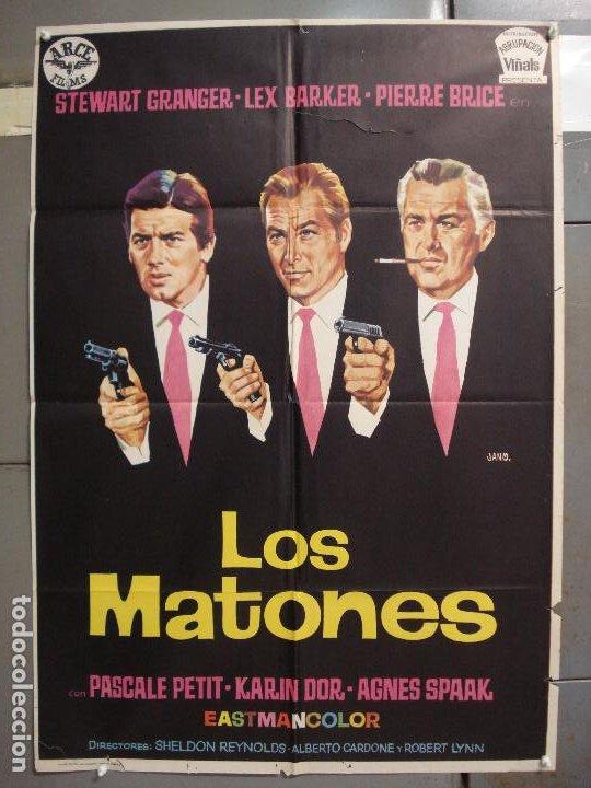 CDO 6319 LOS MATONES LEX BARKER PIERRE BRICE STEWART GRANGER JANO POSTER ORIGINAL ESTRENO 70X100 (Cine - Posters y Carteles - Acción)