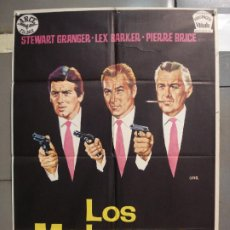 Cine: CDO 6319 LOS MATONES LEX BARKER PIERRE BRICE STEWART GRANGER JANO POSTER ORIGINAL ESTRENO 70X100. Lote 221708012