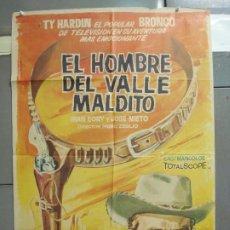 Cine: CDO 6324 EL HOMBRE DEL VALLE MALDITO TY HARDIN JOSE NIETO SPAGHETTI POSTER ORIGINAL 70X100 ESTRENO. Lote 221752030