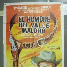 Cine: CDO 6325 EL HOMBRE DEL VALLE MALDITO TY HARDIN JOSE NIETO SPAGHETTI POSTER ORIG ESPAÑOL 70X100 R-80. Lote 221752423