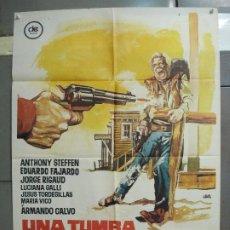 Cine: CDO 6326 UNA TUMBA PARA EL SHERIFF ANTHONY STEFFEN FAJARDO SPAGHETTI POSTER ORIG ESPAÑOL 70X100 R-74. Lote 221753882