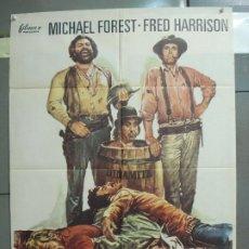 Cine: CDO 6327 LE LAMABAN CALAMIDAD MICHAEL FOREST FRED HARRISON SPAGHETTI POSTER ORIGINAL ESPAÑOL 70X100. Lote 221755710