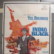 Cine: CDO 6329 INDIO BLACK YUL BRYNNER SABATA POSTER ORIGINAL 70X100 ESTRENO. Lote 221761630