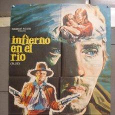 Cine: CDO 6335 INFIERNO EN EL RIO TERENCE STAMP KARL MALDEN POSTER ORIGINAL ESTRENO 70X100. Lote 221769840
