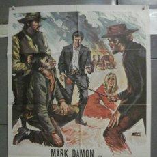 Cine: CDO 6338 LA MUERTE NO CUENTA LOS DOLARES MARK DAMON SPAGHETTI POSTER ORIGINAL 70X100 ESTRENO. Lote 221770777