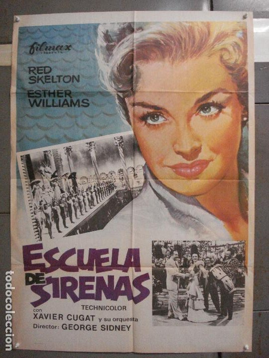 Cine: CDO 6342 ESCUELA DE SIRENAS ESTHER WILLIAMS POSTER ORIGINAL ESPAÑOL 70X100 R-76 - Foto 1 - 221785041