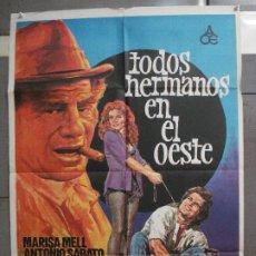 Cine: CDO 6348 TODOS HERMANOS EN EL OESTE ANTONIO SABATO SPAGHETTI POSTER ORIGINAL 70X100 ESTRENO. Lote 221787832