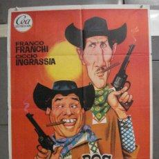 Cine: CDO 6357 DOS CARADURAS EN TEXAS FRANCO FRANCHI CICCIO INGRASIA SPAGHETTI POSTER ORIG 70X100 ESTRENO. Lote 221791765
