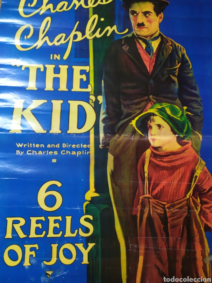 CARTEL PELÍCULA THE KID, CHARLES CHAPLIN (Cine - Posters y Carteles - Comedia)
