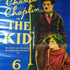 Cine: CARTEL PELÍCULA THE KID, CHARLES CHAPLIN. Lote 221793866