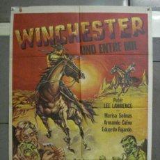 Cine: CDO 6361 WINCHESTER UNO ENTRE MIL PETER LEE LAWRENCE SPAGHETTI POSTER ORIGINAL 70X100 ESPAÑOL R-78. Lote 221793952