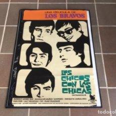 Cine: CARTEL - POSTER DE PELICULA DE CINE ORIGINAL - LOS CHICOS CON LAS CHICAS -LOS BRAVOS /4. Lote 221803706
