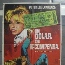 Cine: CDO 6365 UN DOLAR DE RECOMPENSA PETER LEE LAWRENCE ROMERO MARCHENT SPAGHETTI POSTER ORIG ESTR 70X100. Lote 221803826