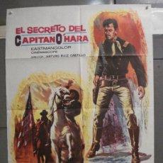 Cine: CDO 6366 EL SECRETO DEL CAPITAN O'HARA GERMAN COBOS SPAGHETTI POSTER ORIGINAL 70X100 ESPAÑOL R-82. Lote 221804373