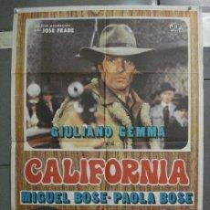 Cine: CDO 6367 CALIFORNIA GIULIANO GEMMA MIGUEL BOSE PAOLA SPAGHETTI POSTER ORIGINAL 70X100 ESTRENO. Lote 221804882