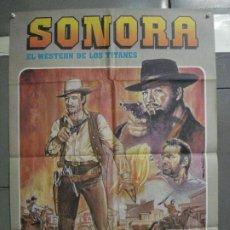 Cine: CDO 6370 SONORA GEORGE MARTIN GILBERT ROLAND SPAGHETTI POSTER ORIGINAL ESPAÑOL 70X100 R-70S. Lote 221807488