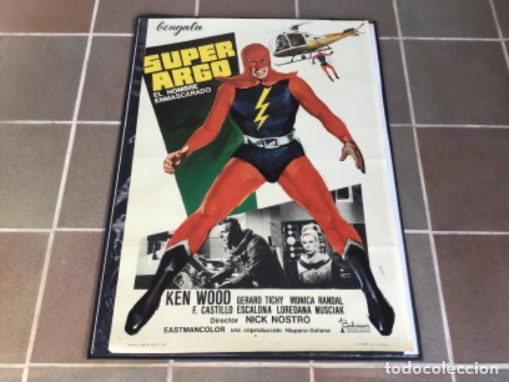 CARTEL - POSTER DE PELICULA DE CINE ORIGINAL - SUPERARGO - EL HOMBRE ENMASCARADO /9 (Cine - Posters y Carteles - Acción)
