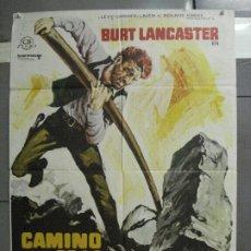 Cine: CDO 6376 CAMINO DE LA VENGANZA BURT LANCASTER POSTER ORIGINAL 70X100 ESTRENO. Lote 221818221